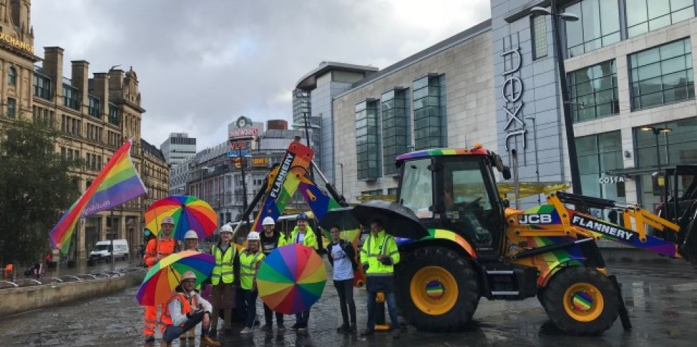 Building Equality leads North West's construction industry's biggest ever celebration of diversity and inclusion at Manchester Pride Weekend