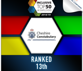Constabulary ranked as one of the most Inclusive Employers in the UK