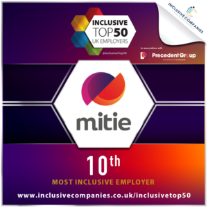 Mitie ranks 10th on the list of Inclusive Top 50 UK Employers
